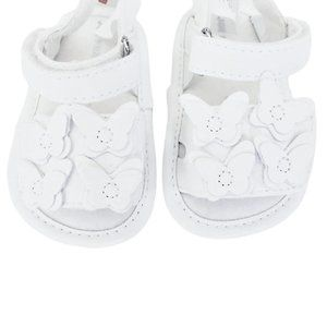 NWT White Butterfly Sandals